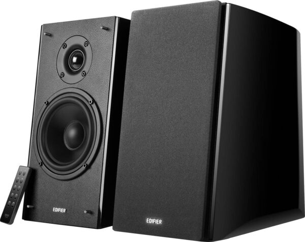 "BOXE EDIFIER 2.0, RMS: 120W (2 x 24W, 2 x 36W), bluetooth telecomanda wireless, volum, bass, treble, black, ""R2000DB"" (include TV 8 lei)"