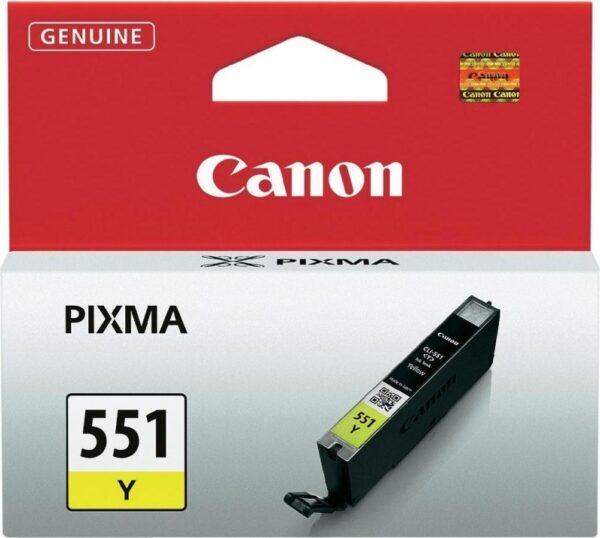 "Cartus Cerneala Original Canon Yellow, CLI-551Y, pentru Pixma IP-7250 8750 IX-6850 MG-5450 5550 5650 6350 6450 6650 7150 7550 MX-725 925, 7ml, incl.TV 0.11 RON, ""BS6511B001AA"""