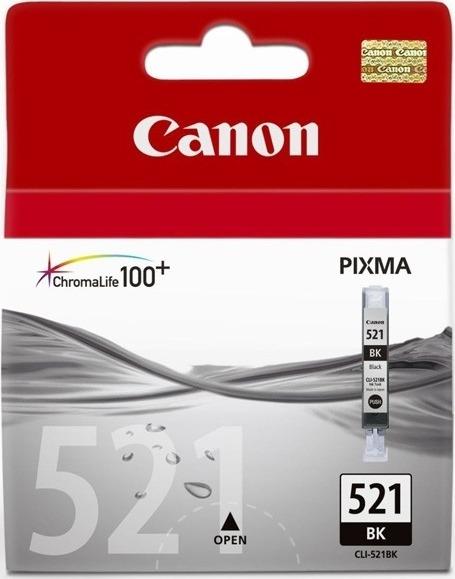 "Cartus Cerneala Original Canon Black, CLI-521B, pentru iP3600|iP4600|MP540|MP620, , incl.TV 0.11 RON, ""BS2933B001AA"""