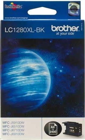 "Cartus Cerneala Original Brother Black, LC1280XLBK, pentru DCP-J525|J725|J925|MFC-J430|J5910|J625|J6510|J6910, 2.4K, incl.TV 0.11 RON, ""LC1280XLBK"""