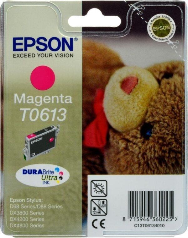 "Cartus Cerneala Original Epson Magenta, T0613, pentru D88|D68PE|DX4800|DX4850|DX4200|DX4250|DX3800|DX3851, , incl.TV 0.11 RON, ""C13T06134010"""