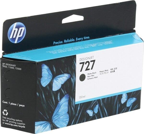 "Cartus Cerneala Original HP Matte Black, nr.727, pentru DesignJet T1500 T1530 T2500 T2530 T920, 130ml, incl.TV 0.11 RON, ""B3P22A"""