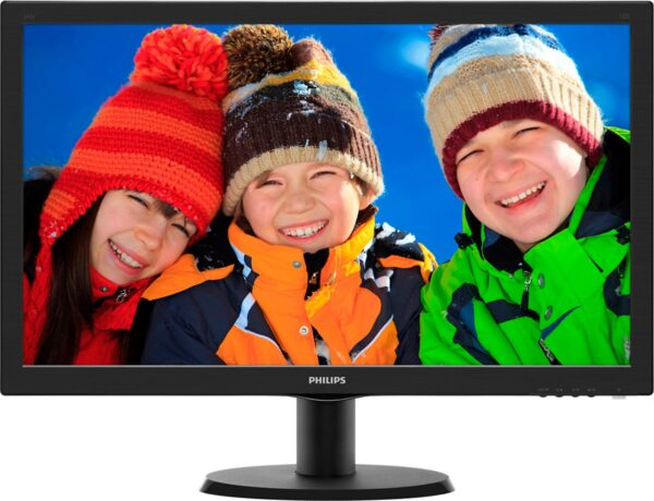 """MONITOR PHILIPS 27″, home, office, TN, Full HD (1920 x 1080), Wide, 300 cd/mp, 1 ms, VGA, DVI, HDMI, """"273V5LHAB/00"""" (include TV 5 lei)"""