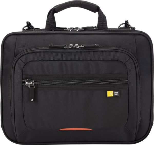 "GEANTA CASE LOGIC, pt. notebook de max. 14 inch, 2 compartimente, buzunar frontal x 2, waterproof, nylon, negru, ""ZLCS-214 BLACK"""