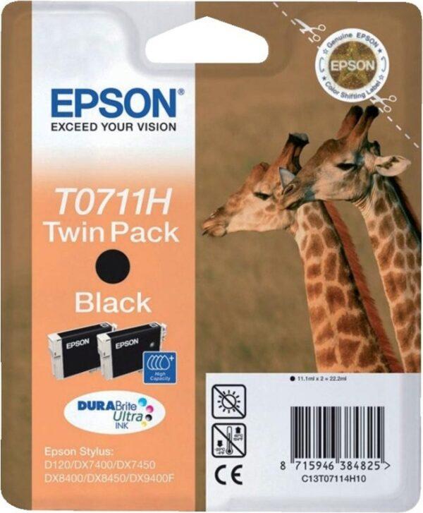"Cartus Cerneala Original Epson Black, T0711H, pentru DX7400 8400 9400F 9400F, , incl.TV 0.11 RON, ""C13T07114H10"""