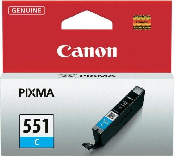 "Cartus Cerneala Original Canon Cyan, CLI-551C, pentru Pixma IP-7250 8750 IX-6850 MG-5450 5550 5650 6350 6450 6650 7150 7550 MX-725 925, 7ml, incl.TV 0.11 RON, ""BS6509B001AA"""