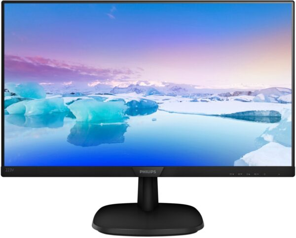 "MONITOR PHILIPS 21.5″, home, office, IPS, Full HD (1920 x 1080), Wide, 250 cd/mp, 5 ms, VGA, DVI, HDMI, ""223V7QDSB/00"" (include TV 5 lei)"