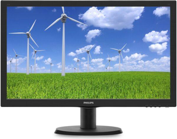 "MONITOR PHILIPS 23.6″, home or office, TN, Full HD, 1920 x 1080, 60 Hz, Wide, 250 cd/mp, 5 ms, VGA, DVI, ""243S5LSB5/00"""