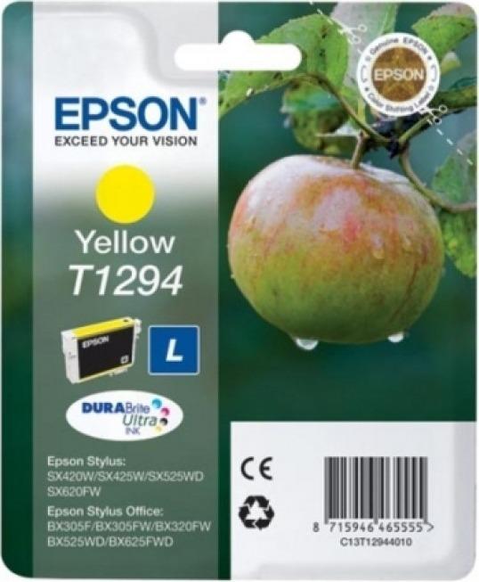 "Cartus Cerneala Original Epson Yellow, T1294, pentru SX425W, , incl.TV 0.11 RON, ""C13T12944011"""