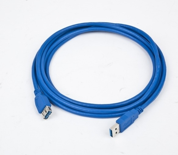 "CABLU USB GEMBIRD prelungitor, USB 3.0 (T) la USB 3.0 (M), 1.8m, conectori auriti, albastru ""CCP-USB3-AMAF-6"" (include TV 0.06 lei)"