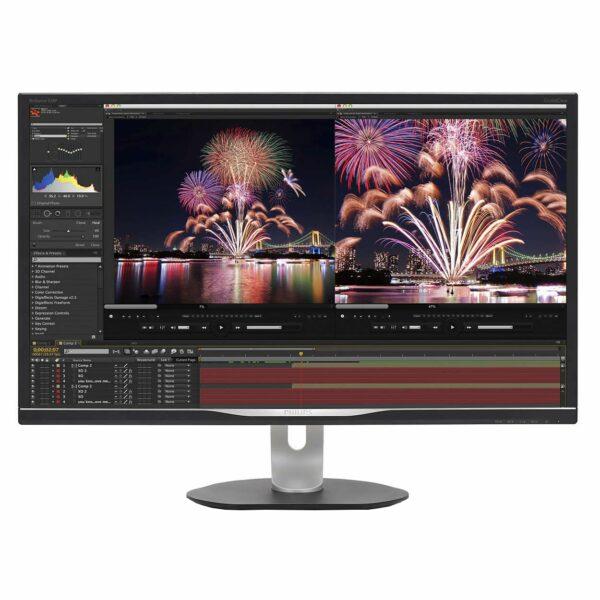 """MONITOR PHILIPS 31.5″, grafica, IPS, WQHD (2560 x 1440), Wide, 300 cd/mp, 4 ms, VGA, HDMI, DisplayPort, """"328P6AUBREB/00"""" (include TV 5 lei)"""