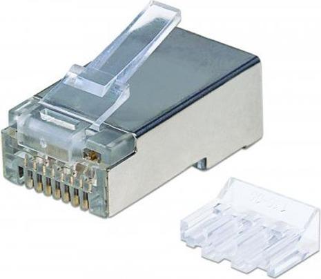 """MUFA RJ-45 INTELLINET pt. cablu FTP, Cat6, RJ-45 (T), ecranat, plastic cu metal, 70 buc, """"790505"""""""