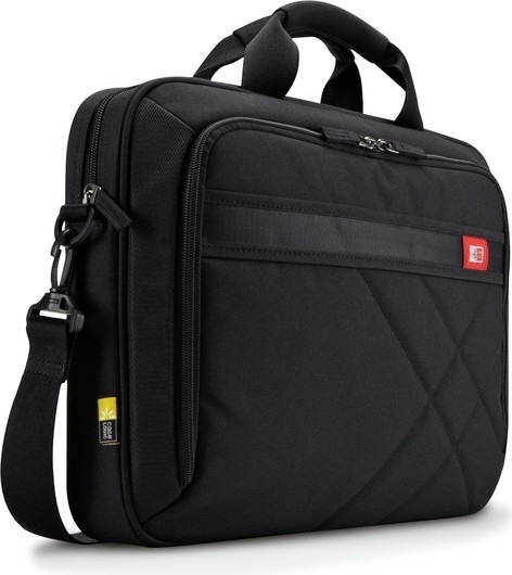 "GEANTA CASE LOGIC, pt. notebook de max. 15.6″, 1 compartiment, buzunar frontal, buzunar dorsal, waterproof, poliester, negru, ""DLC-115 BLACK"" / 3201433"