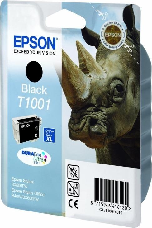 "Cartus Cerneala Original Epson Black, T1001, pentru B40W|BX600|610FW, , incl.TV 0.11 RON, ""C13T10014010"""