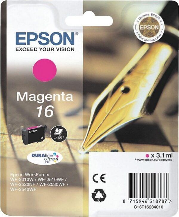 "Cartus Cerneala Original Epson Magenta, T1633, pentru WF2540, , incl.TV 0.11 RON, ""C13T16334010"""
