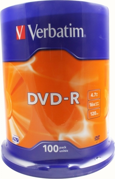 "DVD-R VERBATIM 4.7GB, 120min, viteza 16x, 100 buc, Single Layer, spindle, ""Matt Silver"" ""43549"""