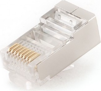 "MUFA RJ-45 pt. cablu FTP, SFTP, Cat5e, RJ-45 (T), ecranat, plastic cu metal, 10 buc, ""PLUG5SP/10"""