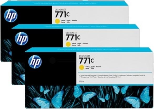 "Tri-Pack Original HP Yellow, nr.771C, pentru DesignJet Z6200, , incl.TV 0.11 RON, ""B6Y34A"""