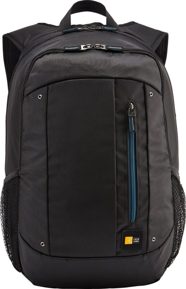 "RUCSAC CASE LOGIC, pt. notebook de max. 15.6 inch, 2 compartimente, buzunar frontal   buzunar lateral x 2, waterproof, poliester, negru, ""WMBP-115 BLACK 4PK""- 532330"