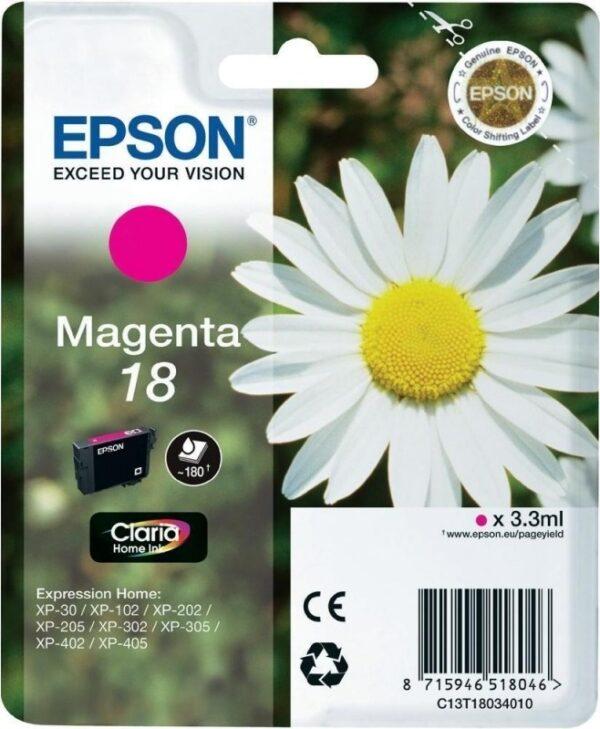 "Cartus Cerneala Original Epson Magenta, T1803, pentru XP102|202|205|302|305|402|405, , incl.TV 0.11 RON, ""C13T18034010"""