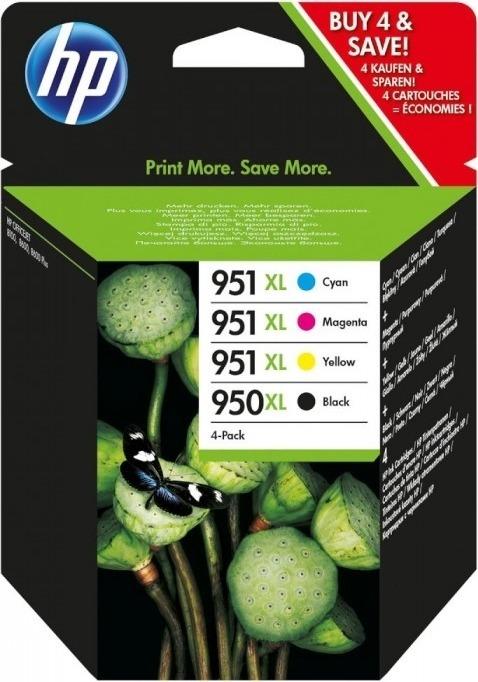 "Combo-Pack Original HP Black, nr.950XL+nr.951XL, pentru OfficeJet Pro 2xx|8xxx, , incl.TV 0.11 RON, ""C2P43AE"""