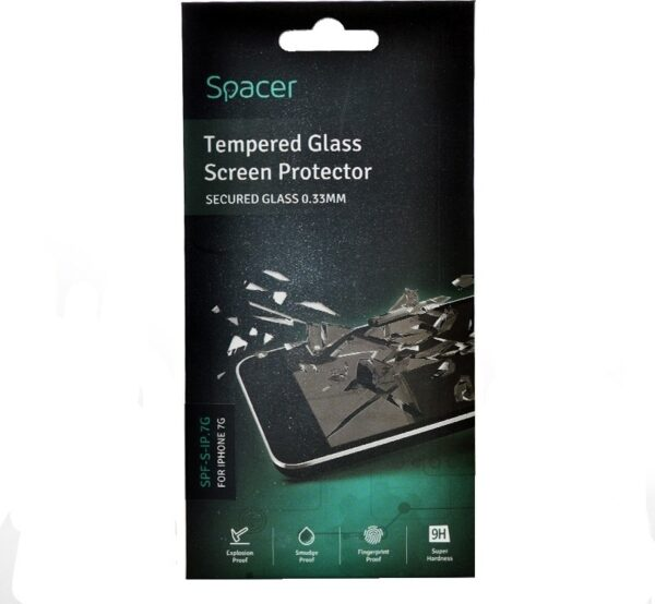 """Folie Sticla protectie 3D Spacer pentru Iphone 7+, Iphone 7 Plus, """"SPF-3D-IP.7G"""""""