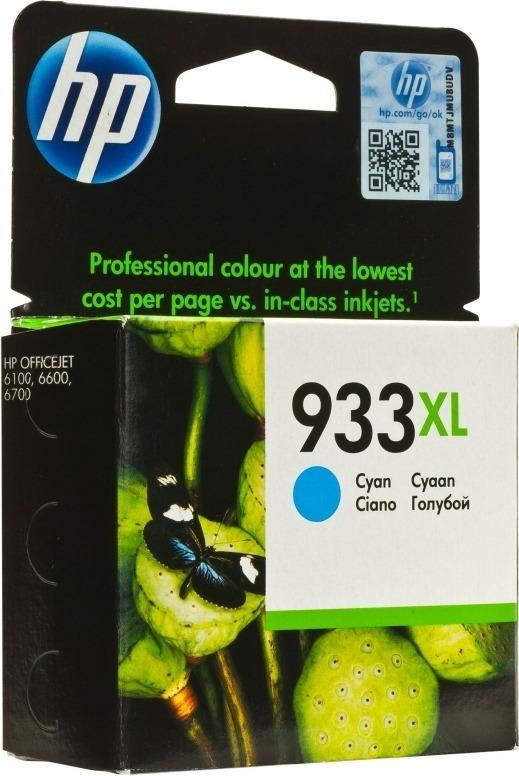 "Cartus Cerneala Original HP Cyan, nr.933XL, pentru OfficeJet 6600 6700 7110, , incl.TV 0.11 RON, ""CN054AE"""