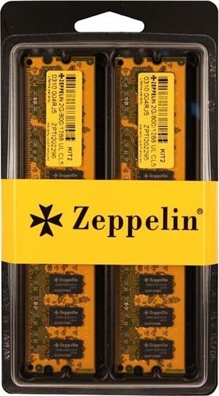 "DIMM ZEPPELIN DDR400 2GB (kit 2x1024M) dual channel kit (retail) ""ZE-DDR2G400-KIT"""