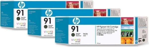 """Tri-Pack Original HP Matte Black, nr.91, pentru DesignJet Z6100, , incl.TV 0.11 RON, """"C9480A"""""""