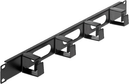 "PANOU gestionare cabluri INTELLINET, tip masca orizontala, 19 inch, 1U, negru, ""711050"""