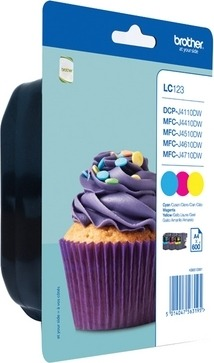 """Combo-Pack Original Brother CMY, LC123RBWBP, pentru DCP-J4110