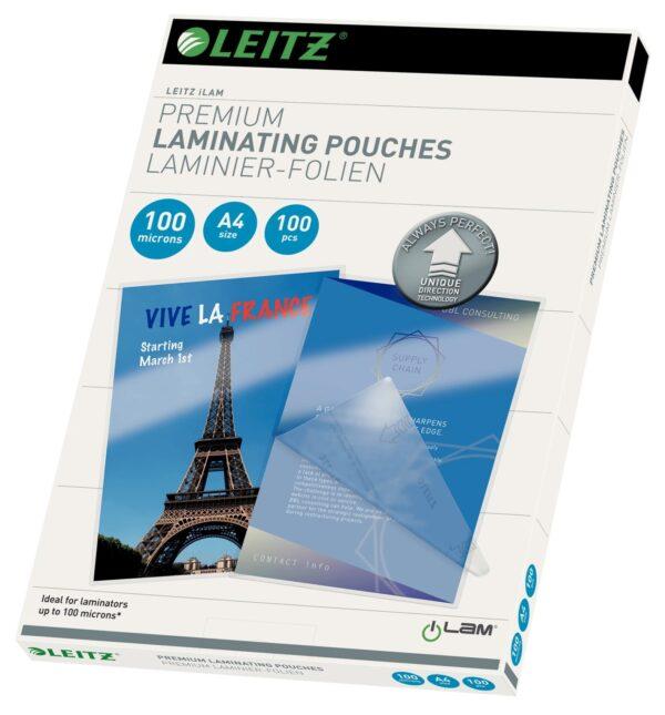 """Folie Leitz UDT pentru laminare la cald, A4, 100 mic., 100buc/set, """"74800000"""""""
