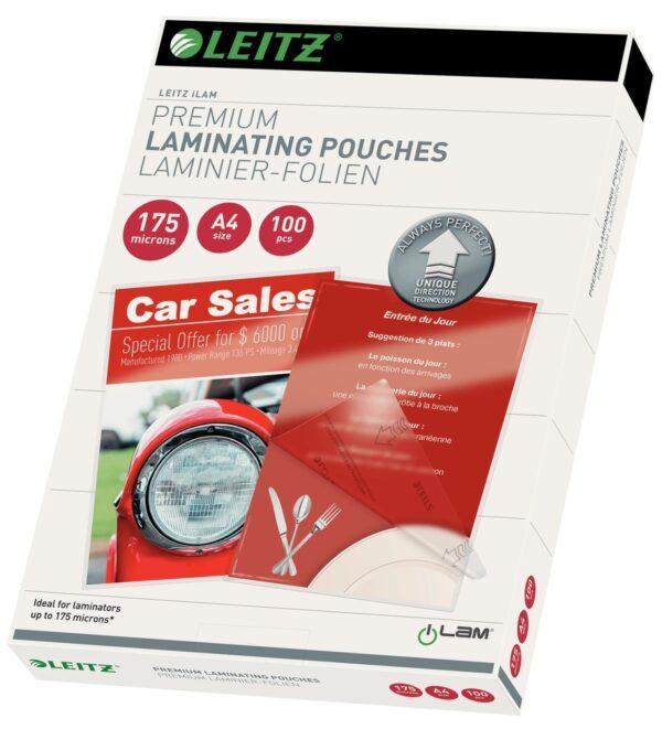 """Folie Leitz UDT pentru laminare la cald, A4, 175 mic., 100buc/set, """"74830000"""""""