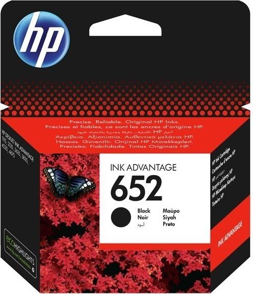 """Cartus Cerneala Original HP Black, nr.652, pentru DESKJET 2135 AIO, , incl.TV 0.11 RON, """"F6V25AE"""""""