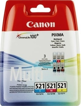 "Cartus Cerneala Original Canon CMY, CLI-521MULTI, pentru iP3600|iP4600|MP540|MP620, , incl.TV 0.11 RON, ""BS2934B007AA"""