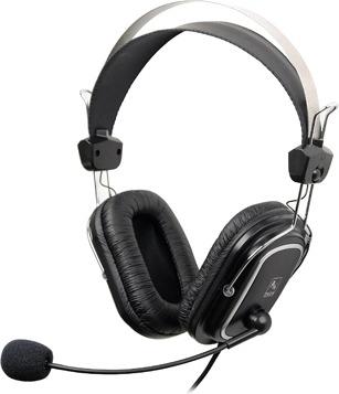 """CASTI A4tech, """"ComfortFIt"""", cu fir, standard, utilizare multimedia, microfon pe brat, conectare prin Jack 3.5 mm, negru, """"HS-50"""", (include TV 0.75 lei)"""