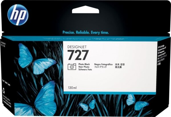 "Cartus Cerneala Original HP Ph Black, nr.727, pentru DesignJet T1500|T1530|T2500|T2530|T920, 130ml, incl.TV 0.11 RON, ""B3P23A"""