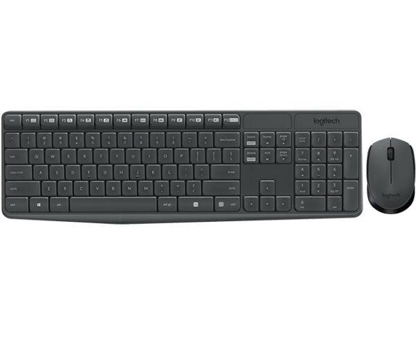 """KIT wireless LOGITECH, tastatura wireless multimedia + mouse wireless 3 butoane, black, """"MK235"""" """"920-007931"""" (include TV 0.75 lei)"""