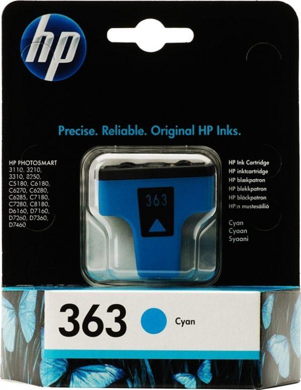 "Cartus Cerneala Original HP Cyan, nr.363, pentru PhotoSmart 3110|3210|3310|C5180|C6180|C6250|C6280|C8180|D7160|72xx, , incl.TV 0.11RON, ""C8771EE"""