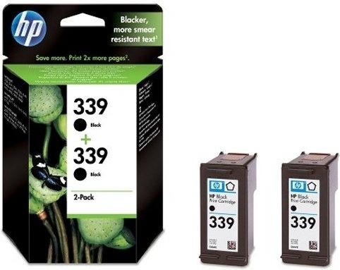 "Dual-Pack Original HP Black, nr.339, pentru DJ5740|574x|65xx|OJ2570|8050|84xx|87xx|PSC1610|23xx, , incl.TV 0.11RON, ""C9504EE"""