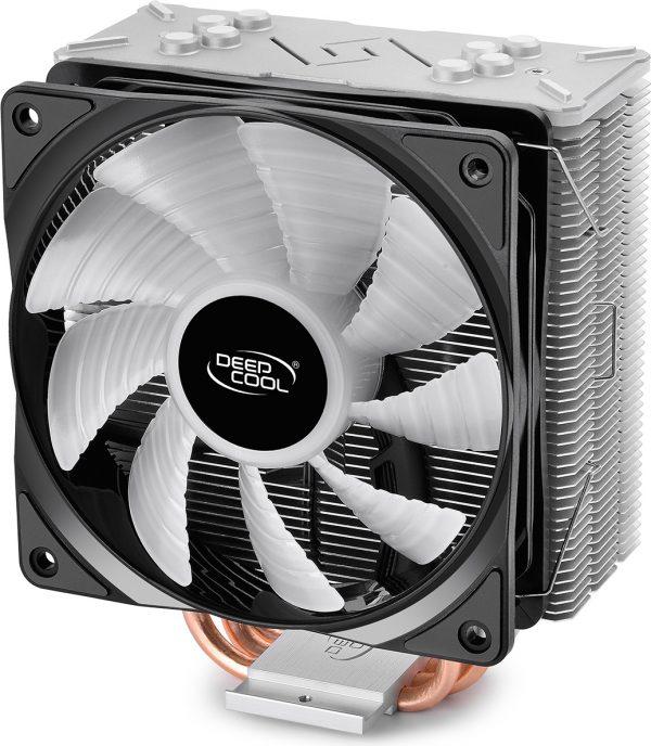 """COOLER DeepCool CPU universal, soc LGA20xx/1366/115x & AM4/AMx/FMx, Al+Cu, 4x heatpipe, 150W, RGB LED """"GAMMAXX GT"""""""