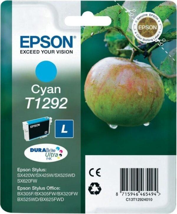 """Cartus Cerneala Original Epson Cyan, T1292, pentru SX425W, , incl.TV 0.11 RON, """"C13T12924011"""""""