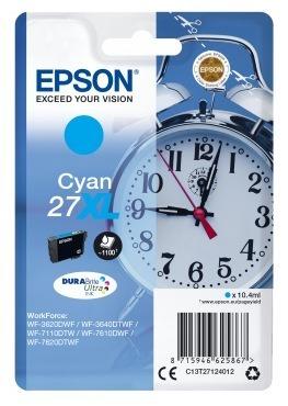 "Cartus Cerneala Original Epson Cyan, T27124012, pentru WorkForce WF-7110|WF-7610, , incl.TV 0.11 RON, ""C13T27124012"""