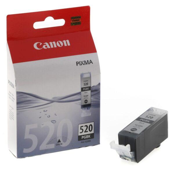 "Cartus Cerneala Original Canon Black, PGI-520B2X, pentru Pixma IP3600 IP4600 IP4700 MP540 MP550 MP560 MP620 MP630 MP640 MP980 MP990 MX860 MX870, , incl.TV 0.11 RON, ""BS2932B009AA"""