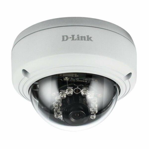 "CAMERA IP D-Link, dome, pt. exterior, dist. IR 20 m, tip lentila fixa 2.8 mm, 2 Mpx, cu fir, microfon nu, PoE da, carcasa metal, slot SD card da, ""DCS-4602EV"""