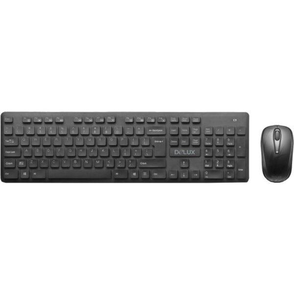 "Kit TASTATURA si Mouse DELUX, ""KA150+KA150G"", wireless, 104 taste format standard, mouse , 3/1 butoane, negru, ""KA150G"" (include TV 0.75 lei)"