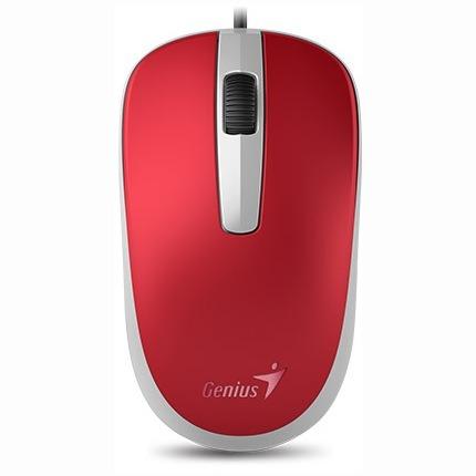 """MOUSE GENIUS, """"DX-110"""" notebook, PC, cu fir, optic, USB, 1000 dpi, 3/1, rosu, """"31010116104"""", (include TV 0.15 lei)"""