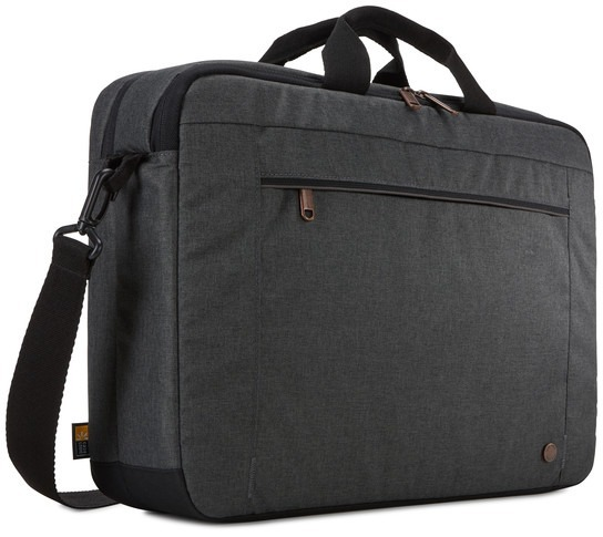 "GEANTA CASE LOGIC, pt. notebook de max. 15.6 inch, 2 compartimente, buzunar frontal, waterproof, poliester, negru, ""ERALB-116 OBSIDIAN"""