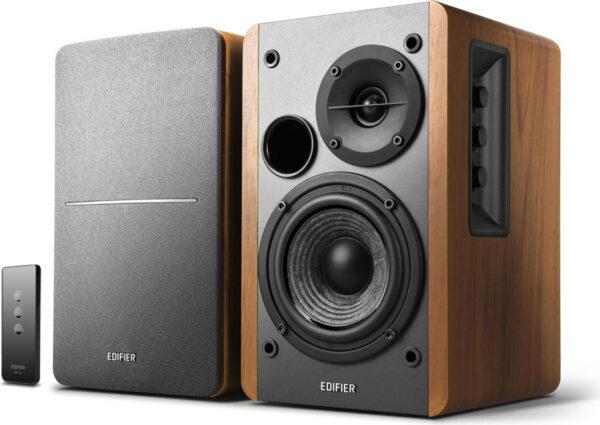 "BOXE EDIFIER 2.0, RMS: 42W (2 x 21W), telecomanda wireless, volum, bass, treble, brown, ""R1280T"" (include TV 8 lei)"