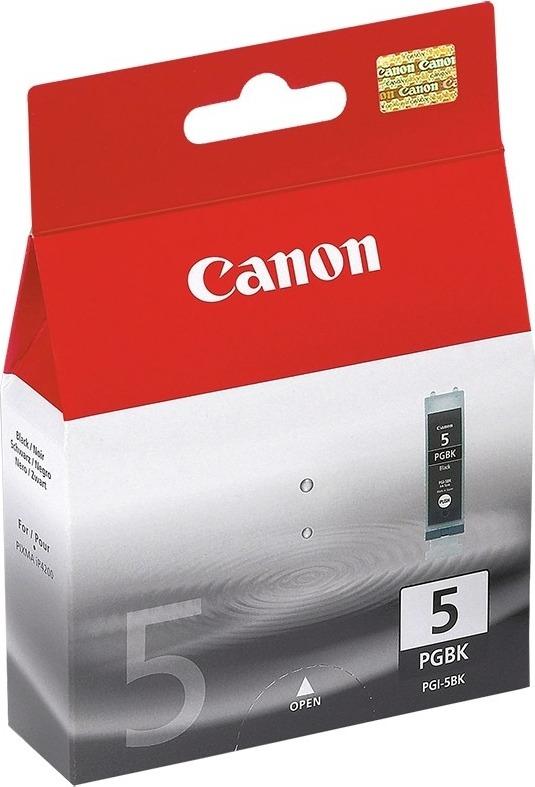 "Cartus Cerneala Original Canon Black, PGI-5B, pentru Pixma IP3300 IP3500 IP4200 IP4300 IP4500 IP5200 IP5300 IX4000 IX5000 MP500 MP510 MP520 MP530 MP600 MP610 MP800 MP810 MP830, , incl.TV 0.11 RON, ""BS0628B001AA"""